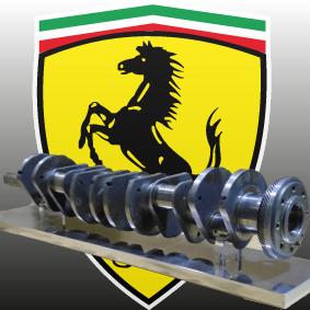 Präsentationssockel für eine Nockenwelle Ferrari 250 LM